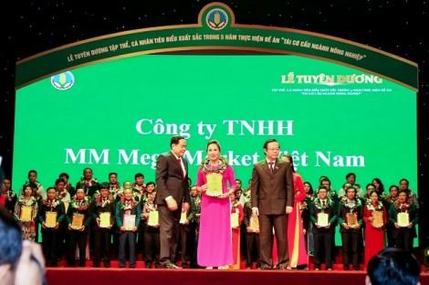 Công ty MM Mega Market Việt Nam được vinh danh 'Doanh nghiệp vì nhà nông'