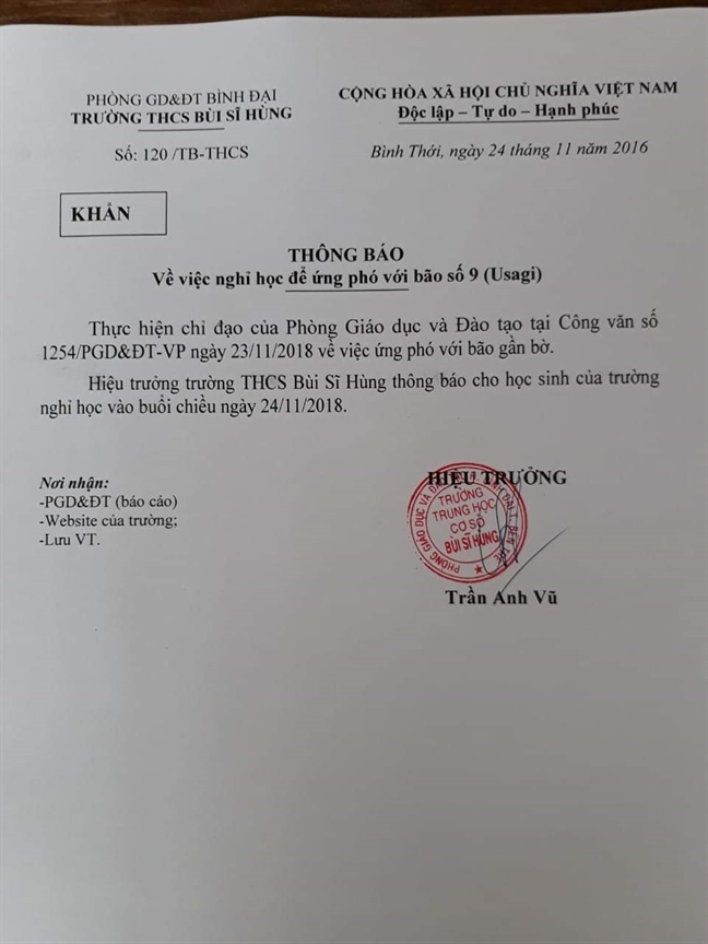 Bao so 9 chuyen huong vao mien Tay, TP.HCM cho hoc sinh nghi hoc