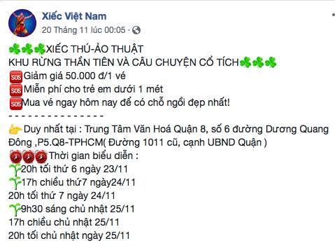 Mac mua bao va co 'lenh cam', mot chuong trinh xiec tai TP.HCM van dien ra