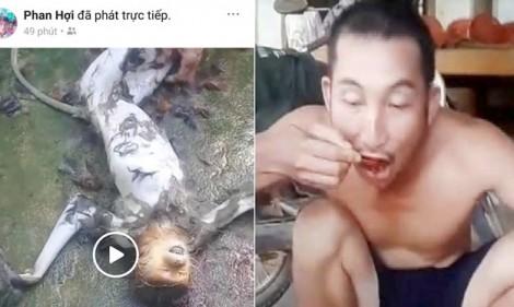 Xác minh nhóm thanh niên phát trực tiếp cảnh giết khỉ rồi ăn sống trên Facebook