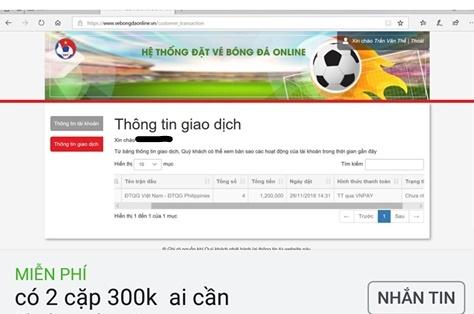 Ket thuc mo ban online, ve xem tran ban ket Viet Nam – Philippines bi 'thoi gia' gap 5-6 lan