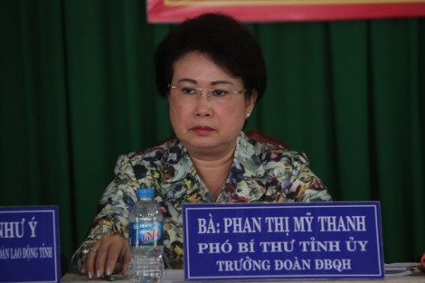 Sau kỷ luật, bà Phan Thị Mỹ Thanh về làm tại Mặt trận tổ quốc tỉnh