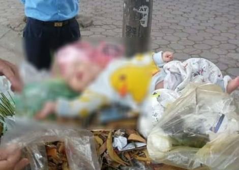 Bé trai bị bỏ rơi trong thùng rác ở Hà Nội