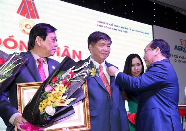 Cho dau moi nong san Thu Duc duoc trao tang Huan chuong Lao dong hang Ba