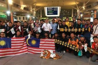Fan cuồng của Malaysia đổ bộ Hà Nội cổ vũ chung kết AFF Cup