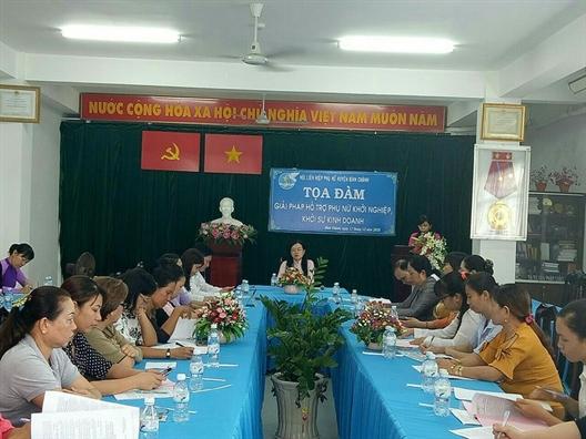 Huyen Binh Chanh: Ban giai phap ho tro phu nu khoi nghiep