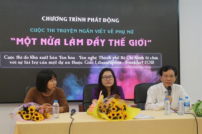 Nha van Nguyen Ngoc Tu phat dong cuoc thi truyen ngan viet ve phu nu