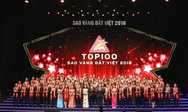 Cac doanh nghiep dat giai thuong Sao Vang Dat Viet 2018