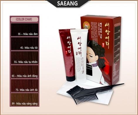 Mái tóc bóng khỏe, đẹp tự nhiên với thuốc nhuộm tóc thảo mộc Saeang Hàn Quốc