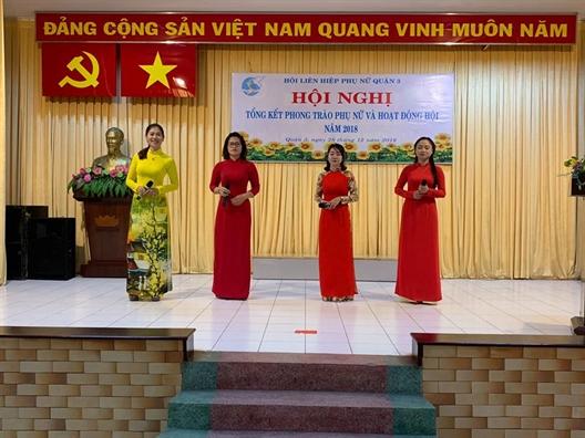 Quan 3: Hoi Phu nu phuong 1, 9 va cho Vuon Chuoi dan dau cac cum thi dua