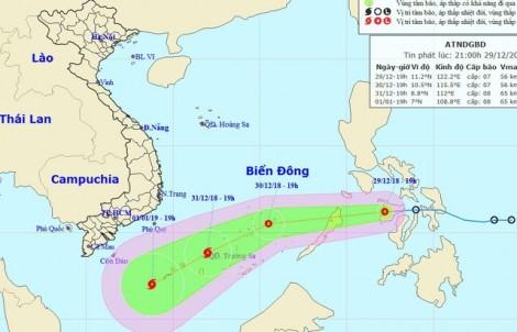 Áp thấp nhiệt đới đi vào Biển Đông, có khả năng thành bão