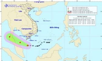 Bão số 1 giật cấp 11, tiến gần đất liền các tỉnh Nam bộ
