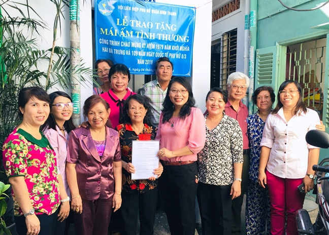 Binh Thanh: Trao tang 3 mai am tinh thuong cho hoi vien
