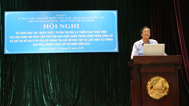 Quan 4: Trien khai Nghi quyet Ban Chap hanh Trung uong Dang khoa XII