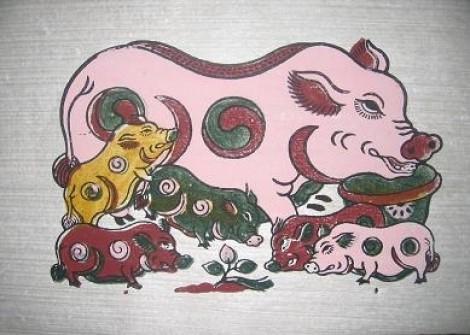 Chuyện lợn trong tranh dân gian