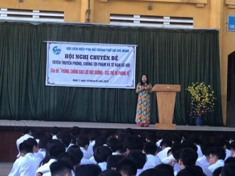 Quận 1: Hơn 1.000 học sinh tham dự chuyên đề phòng chống bạo lực học đường