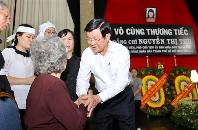 Nhieu lanh dao Dang, nha nuoc den vieng le tang Pho chu tich UBND TP.HCM Nguyen Thi Thu