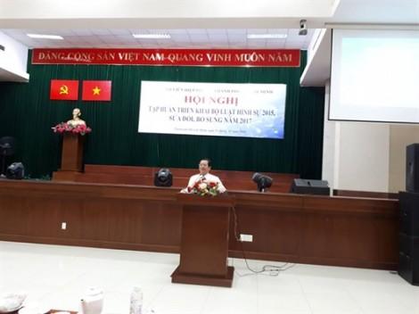 Hơn 300 cán bộ Hội được tập huấn về Bộ Luật hình sự