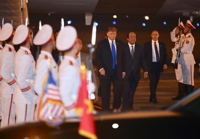 Tong thong My Donald Trump toi Ha Noi
