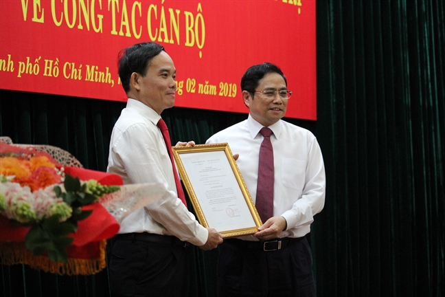 Bi thu Tinh uy Tay Ninh lam Pho Bi thu Thuong truc Thanh uy TP.HCM