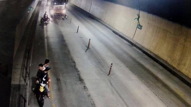 Dieu tra nhom con do dung rua tan cong xe tai tai ham duong bo Phuoc Tuong
