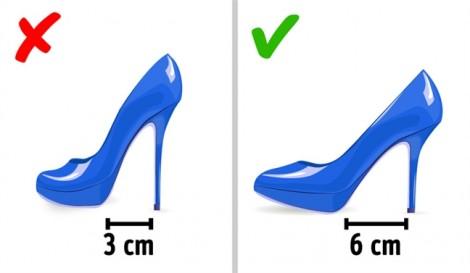 Vì sao không nên chọn giày có gót cao quá 4 - 6cm?