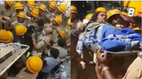 Ấn Độ: Giải cứu 3 nạn nhân mắc kẹt hơn 60 giờ dưới đống đổ nát