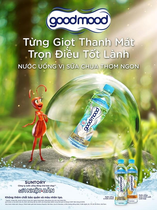 Nuoc uong co vi Good Mood, chinh thuc duoc Suntory tung ra tai thi truong Viet Nam