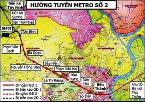 Ba phương án di dời hạ tầng để thi công tuyến tàu điện ngầm số 2