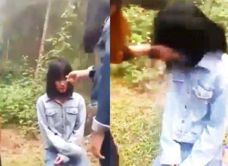 Nữ sinh lớp 7 bị nhóm bạn tát, ép quỳ gối