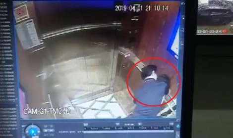 Dư luận phẫn nộ clip người đàn ông cưỡng hôn bé gái trong thang máy