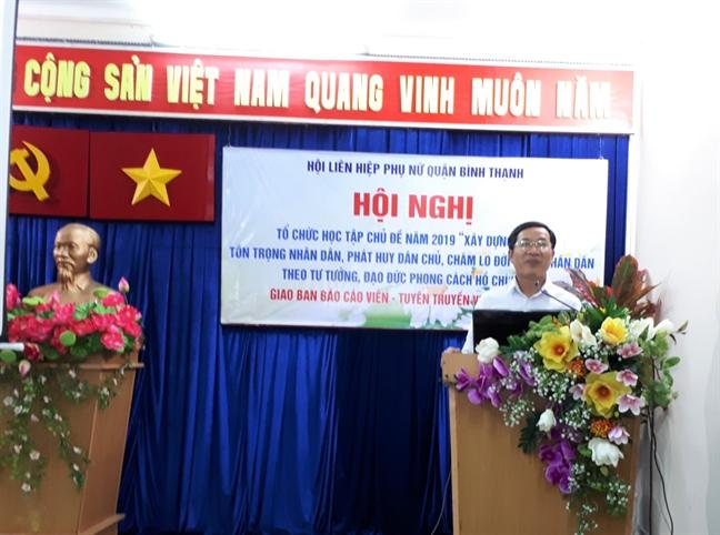 Binh Thanh: Hoc theo guong Bac, day manh hoat dong huong ve co so, vi loi ich nhan dan