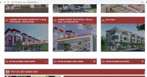 Công ty địa ốc Alibaba bị xử phạt vì tung tin sai sự thật trên trang tin điện tử