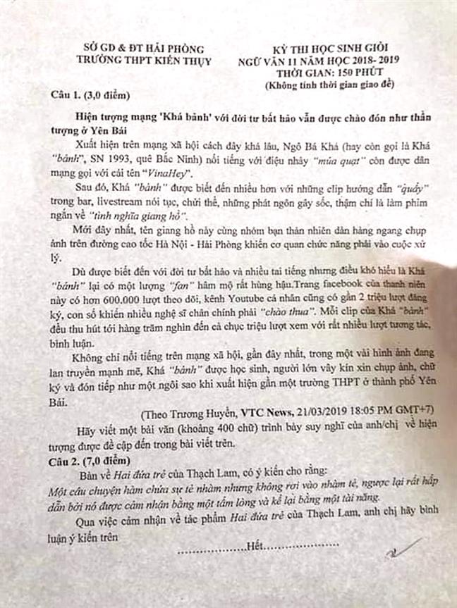 Kha 'banh' vao de van: Doi moi giao duc khong phai lam cai khac nguoi