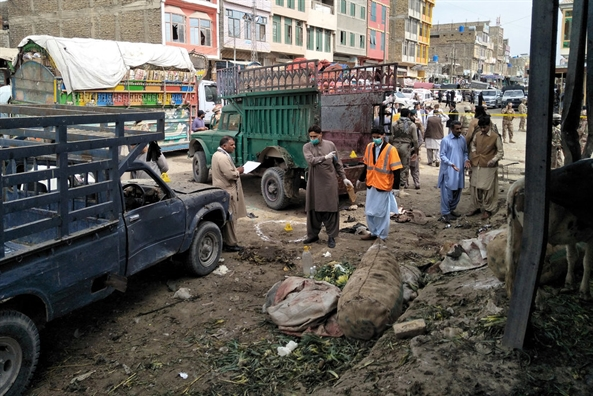 Pakistan: Danh bom tai cho rau cu khien gan 70 nguoi thuong vong