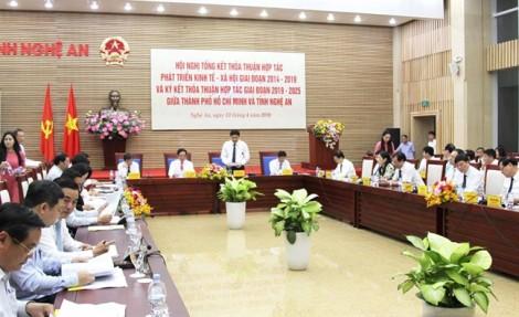 TP.HCM và Nghệ An đẩy mạnh hợp tác giai đoạn 2019 - 2025