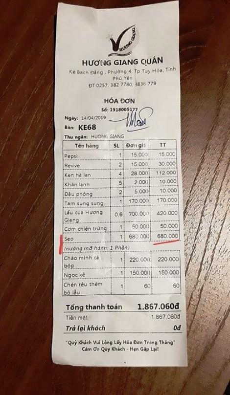 Phú Yên: Kiểm tra quán 'chém' du khách 680.000 đồng/đĩa sò điệp