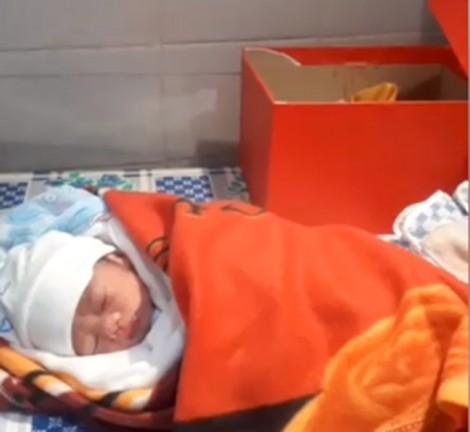 Bé gái sinh non nặng 1,3kg bị bỏ rơi trong hộp giấy