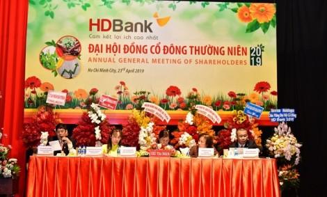 HDBank chia cổ tức và cổ phiếu thưởng 30%, đặt mục tiêu lợi nhuận trước thuế 5.077 tỷ đồng năm 2019