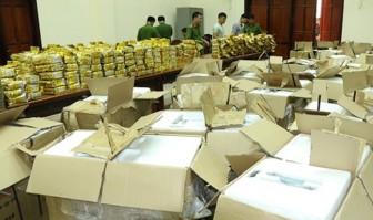 Tạm giữ 2 nghi phạm trong vụ gần 600kg ma túy đá 'ngụy trang' trong 60 loa thùng