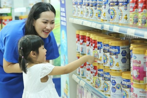 Sữa nước và sữa bột trẻ em của Vinamilk dẫn đầu thị trường