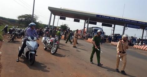 Xả trạm BOT Đồng Xoài - Phước Long vì tài xế phản đối