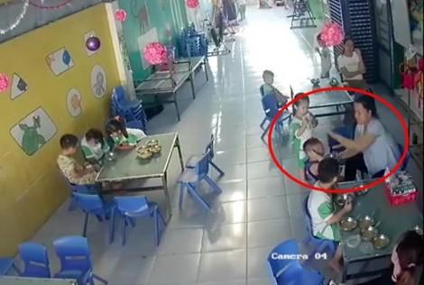 Xác minh vụ bảo mẫu đánh trẻ khi cho ăn tại Long An