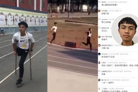 'Một chân' chinh phục 1.000 mét chạy trong 4 phút!