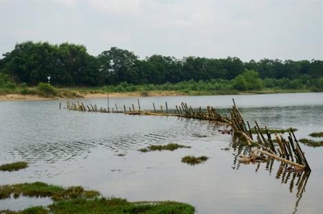 Thừa Thiên Huế: Bức xúc 'cát tặc', dân đóng cọc tre phong tỏa sông Bồ