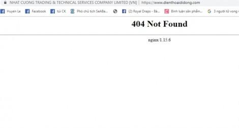 Website, hotline và Facebook của Nhật Cường Mobile đồng loạt 'biến mất'