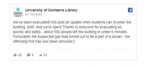 Úc: 500 người phải sơ tán khỏi thư viện vì … mùi sầu riêng