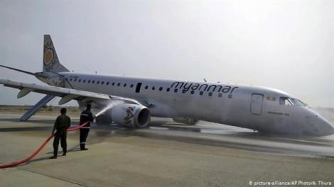 Myanmar: Máy bay hạ cánh an toàn dù thiếu bánh xe