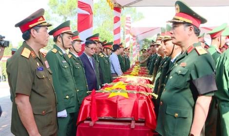 98 hài cốt liệt sĩ hy sinh tại Lào được an táng tại Nghệ An