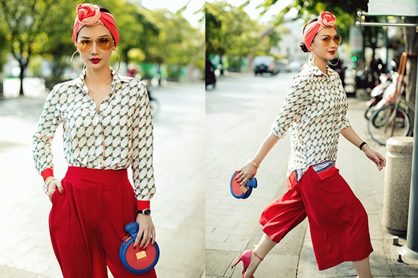 MC Quynh Chi goi y street style xuong pho ngay he